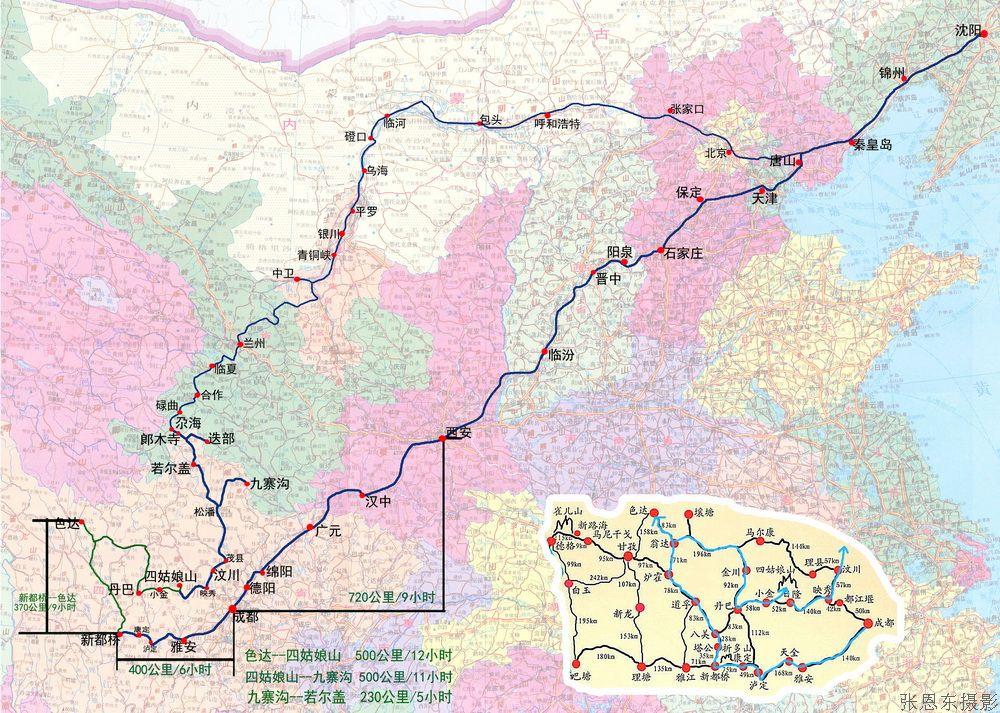 川西甘南-路线地图